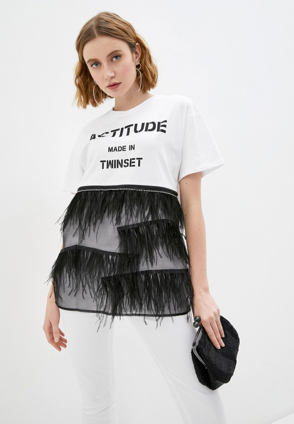 женская футболка twinset milano, белая