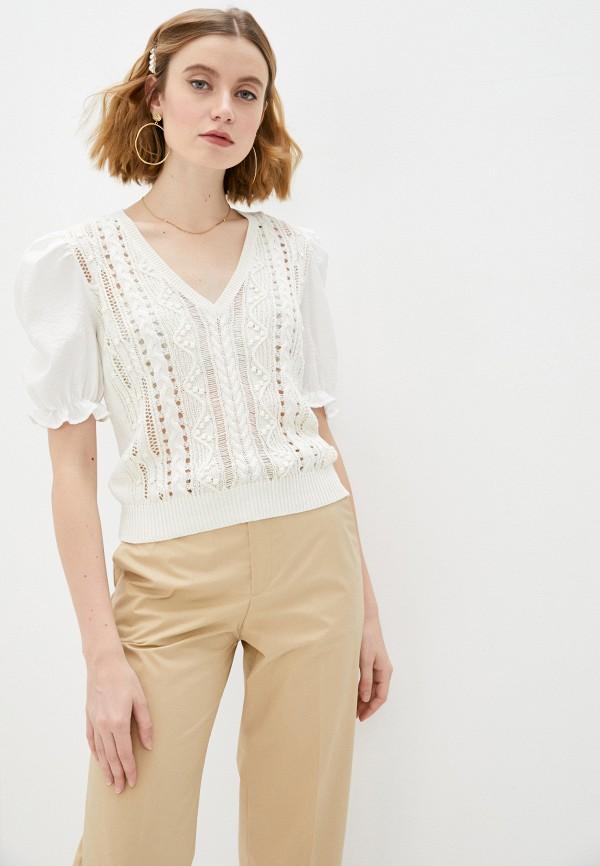 женский пуловер twinset milano, белый
