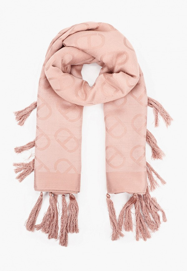 женский платок twinset milano, розовый