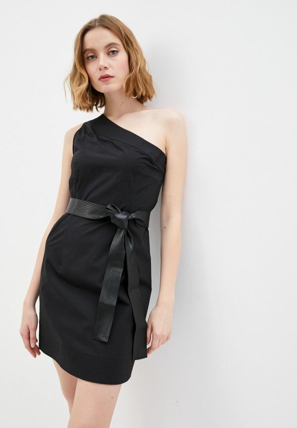 женское платье-футляр twinset milano, черное
