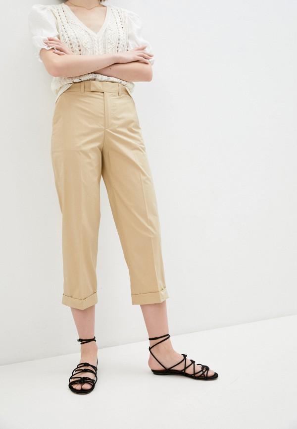 женские повседневные брюки twinset milano, бежевые