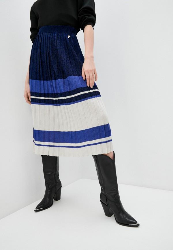 женская плиссированные юбка twinset milano, синяя