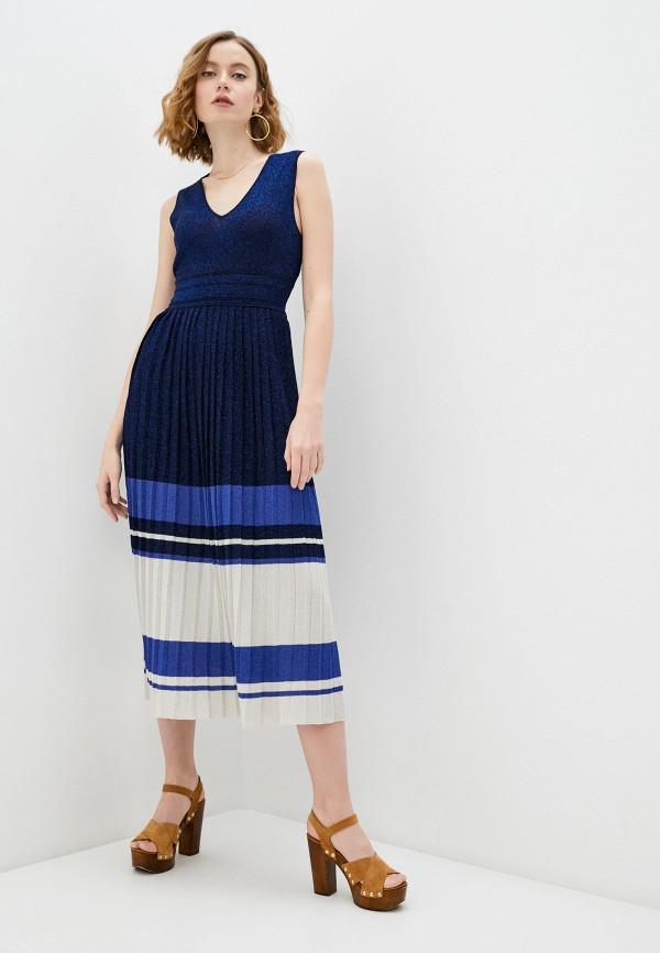 женское повседневные платье twinset milano, синее