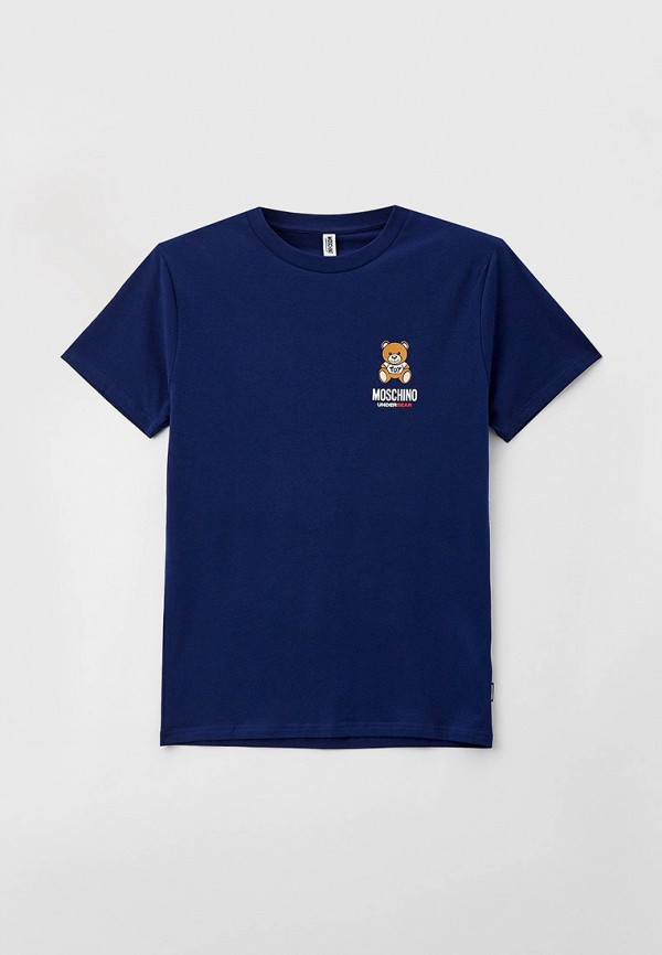 мужская футболка moschino underwear, синяя