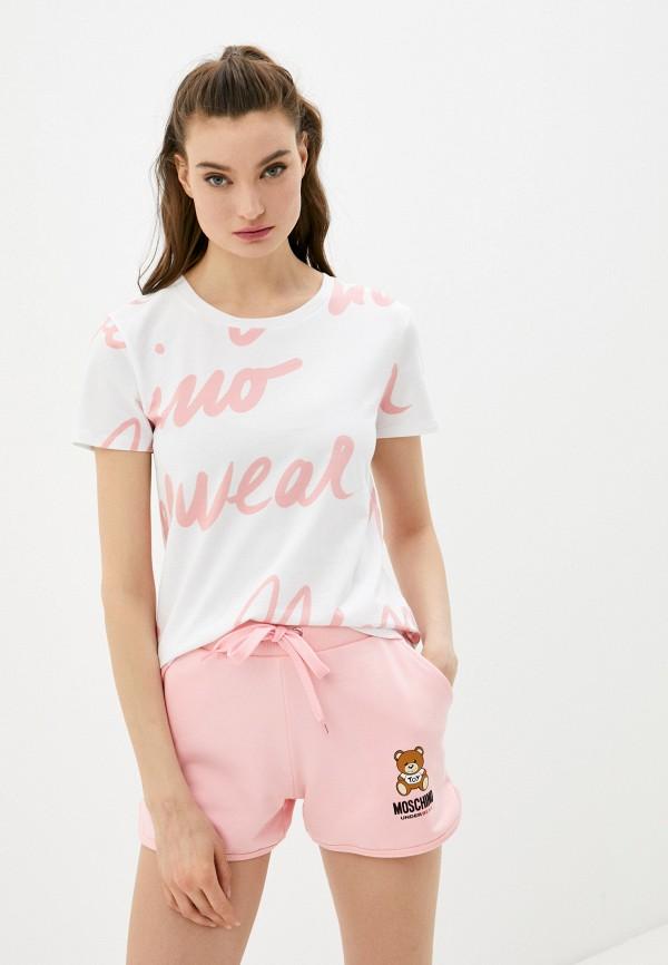 женская футболка moschino underwear, белая
