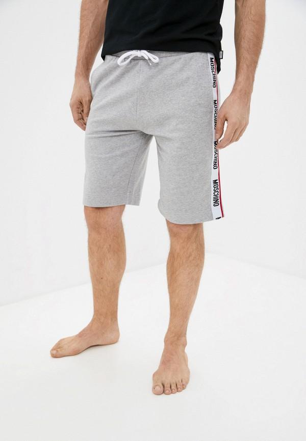 мужские спортивные шорты moschino underwear, серые