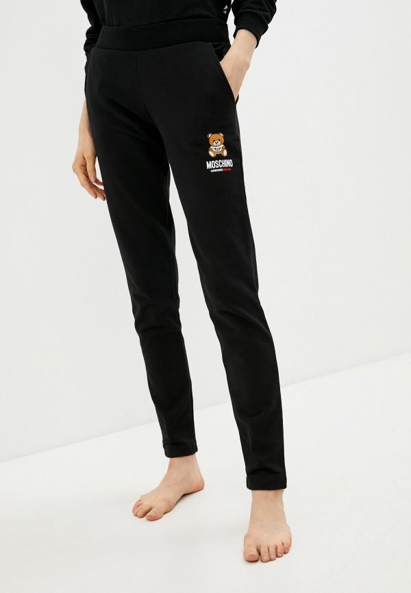 женские спортивные брюки moschino underwear, черные