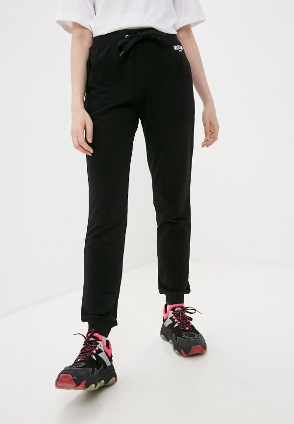 женские спортивные брюки moschino swim, черные