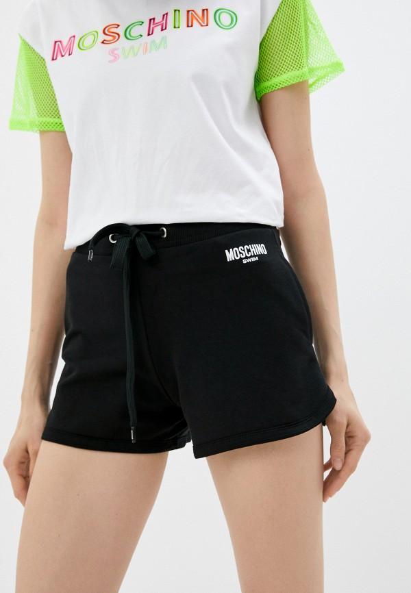 женские спортивные шорты moschino swim, черные