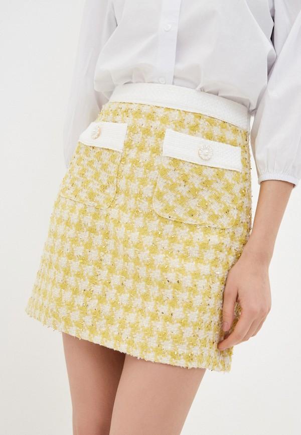 женская прямые юбка sister jane, желтая