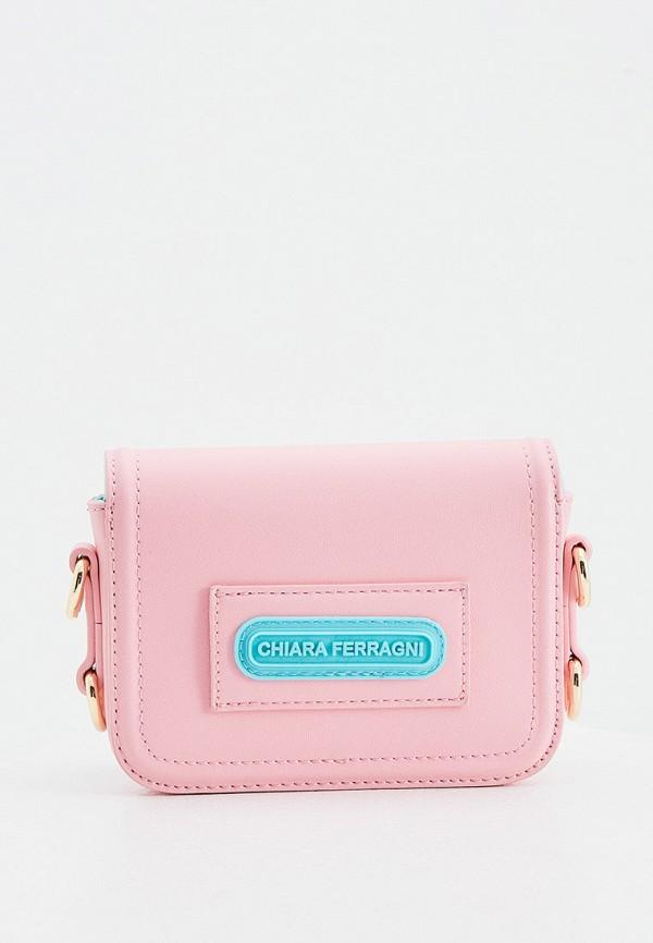 женская сумка chiara ferragni collection, розовая