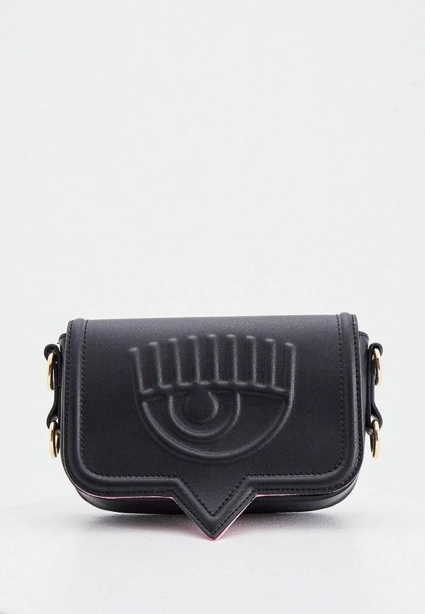 женская сумка chiara ferragni collection, черная
