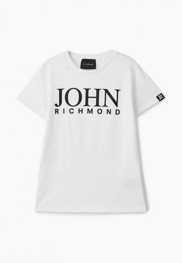 футболка с коротким рукавом john richmond для мальчика, белая