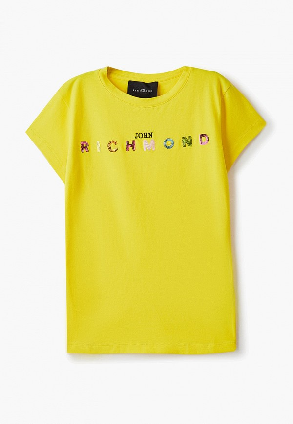 футболка с коротким рукавом john richmond для девочки, желтая