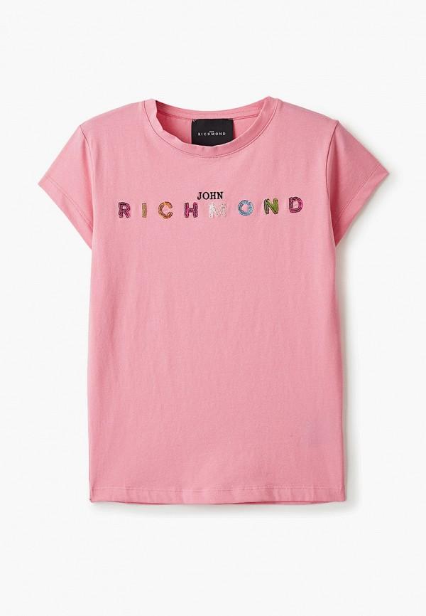 футболка с коротким рукавом john richmond для девочки, розовая