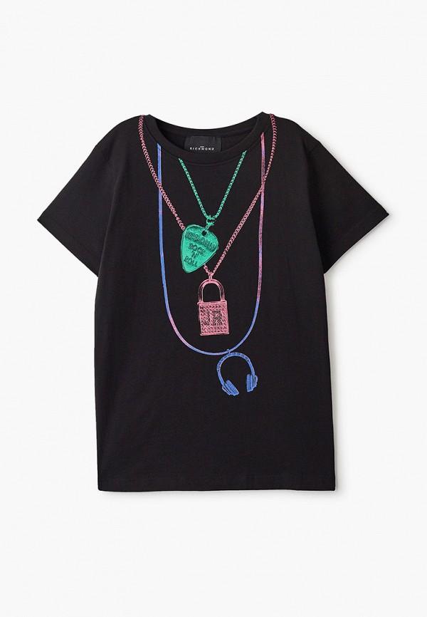 футболка с коротким рукавом john richmond для девочки, черная