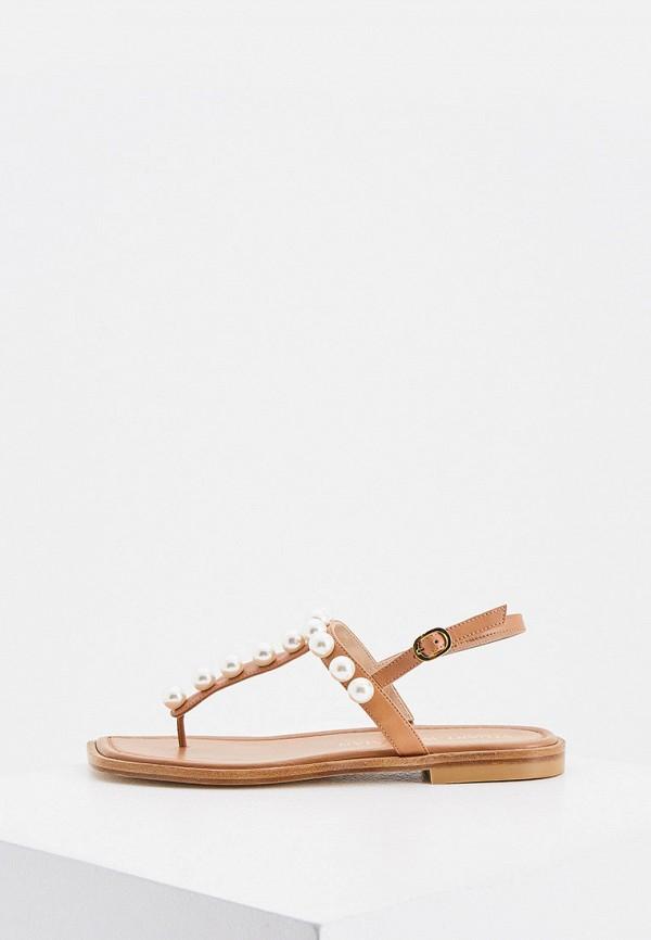 женские сандалии stuart weitzman, коричневые