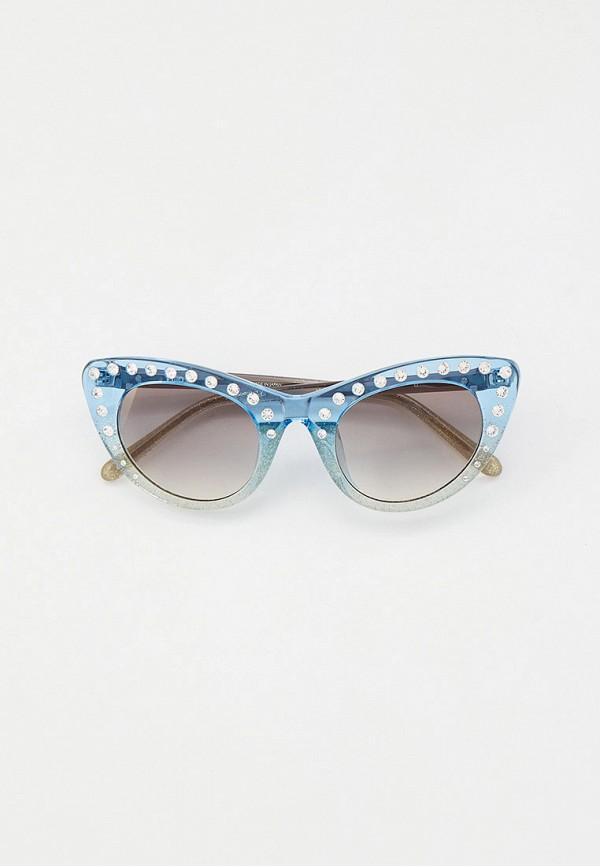 женские солнцезащитные очки кошачьи глаза linda farrow, голубые