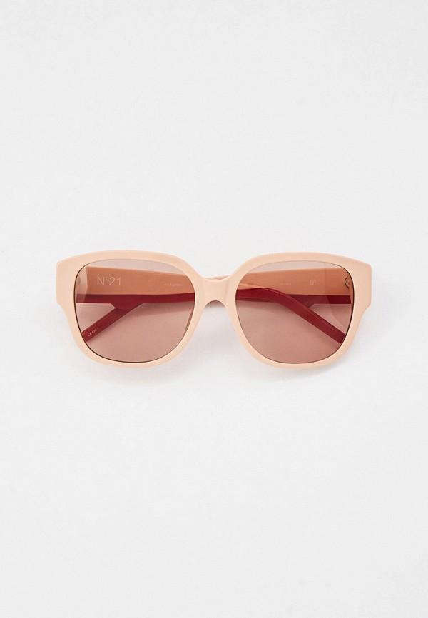 женские квадратные солнцезащитные очки linda farrow, розовые