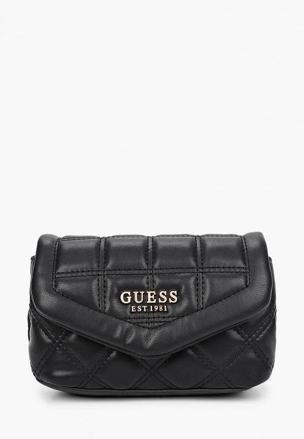 женская поясные сумка guess, черная