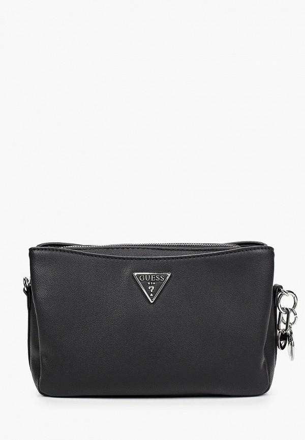 женская сумка через плечо guess, черная