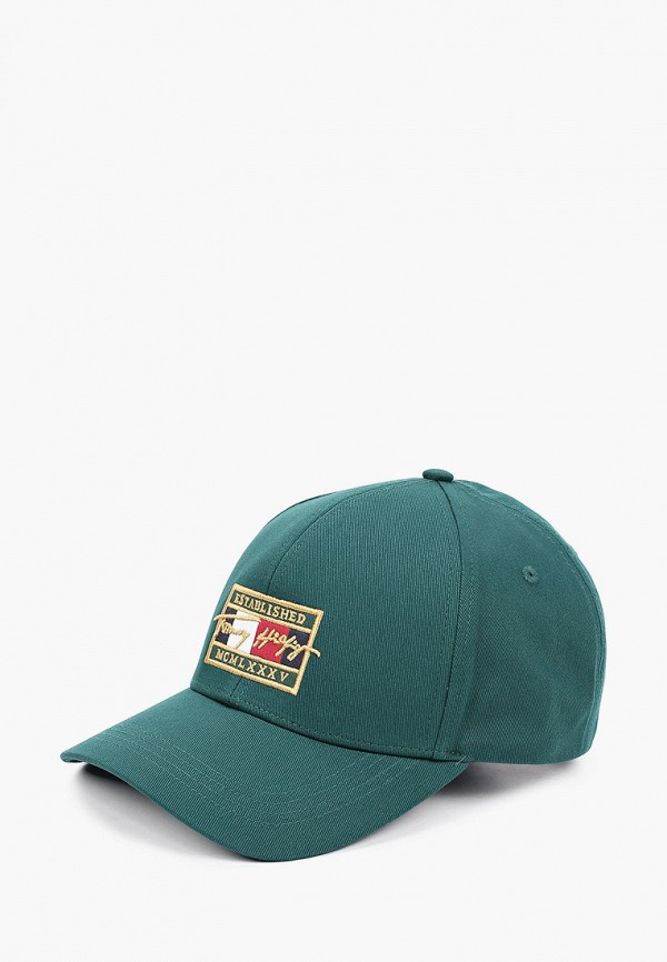 мужская бейсболка tommy hilfiger, зеленая