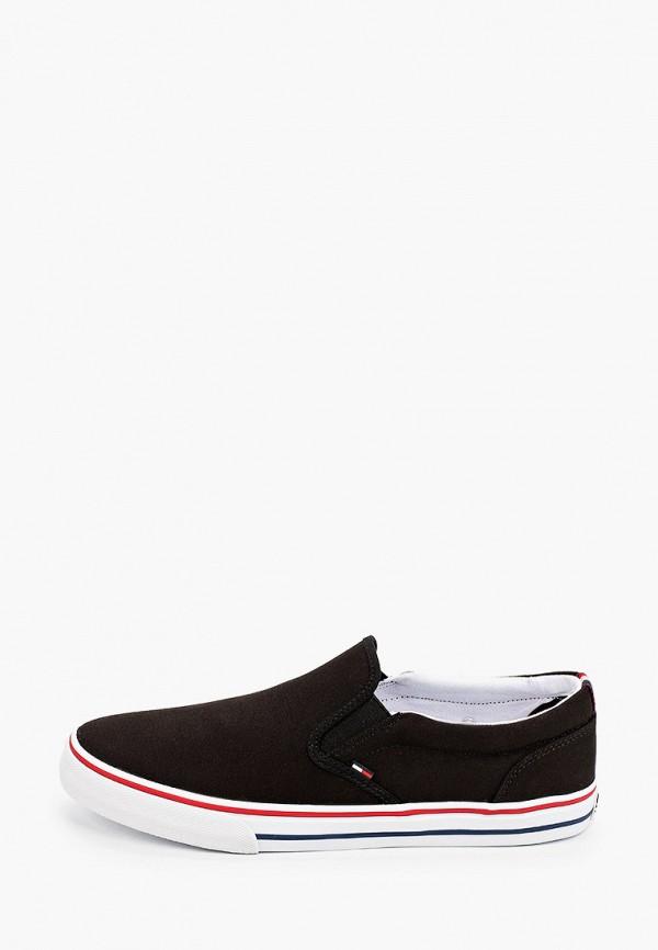мужские слипоны tommy jeans, черные