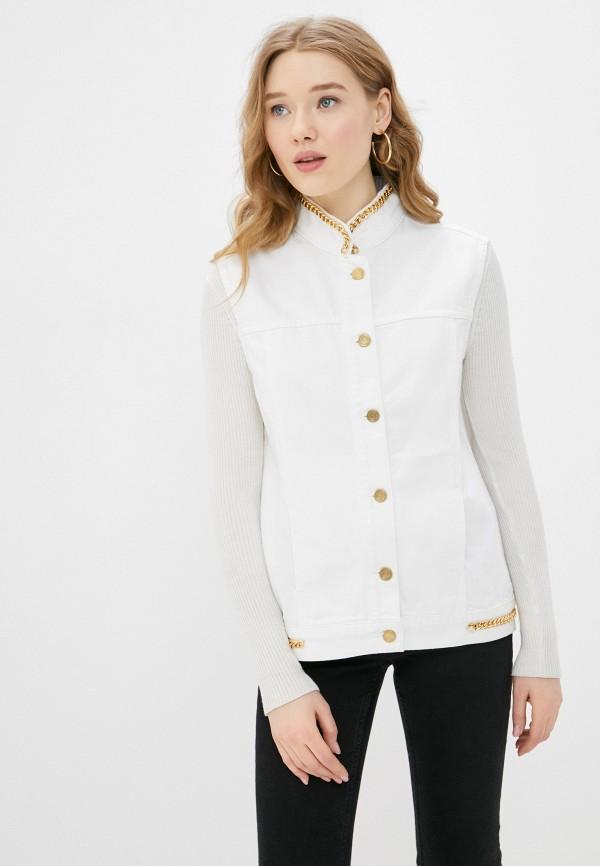 женский джинсовые жилет silvian heach, белый