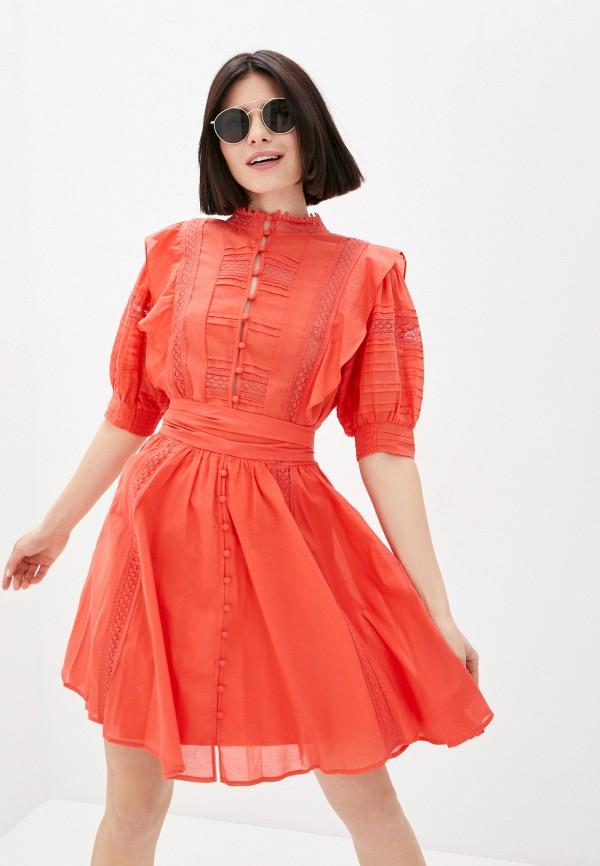 женское повседневные платье silvian heach, красное