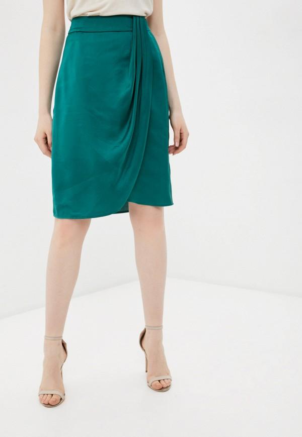 женская прямые юбка silvian heach, зеленая