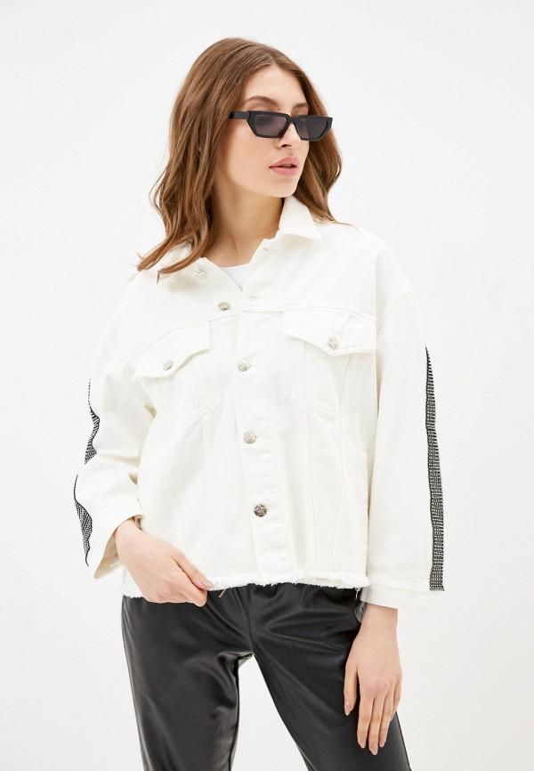женская джинсовые куртка silvian heach, белая