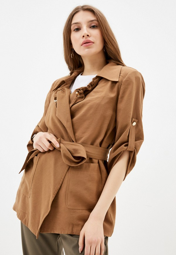 женский жакет silvian heach, коричневый