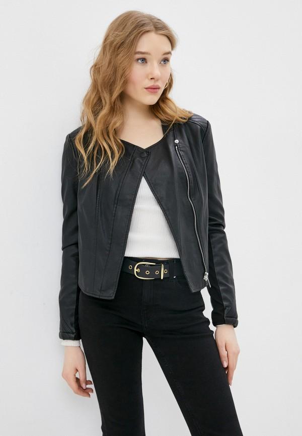 женская куртка косухи silvian heach, черная