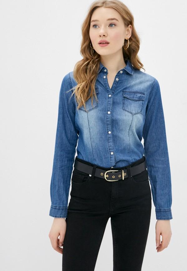 женская джинсовые рубашка silvian heach, синяя