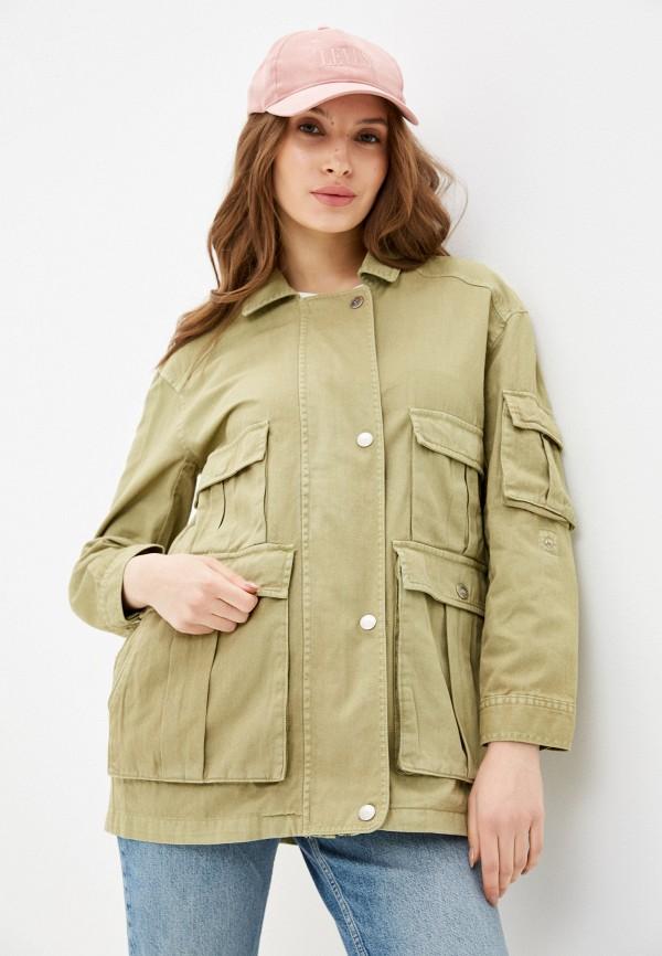женская куртка silvian heach, хаки