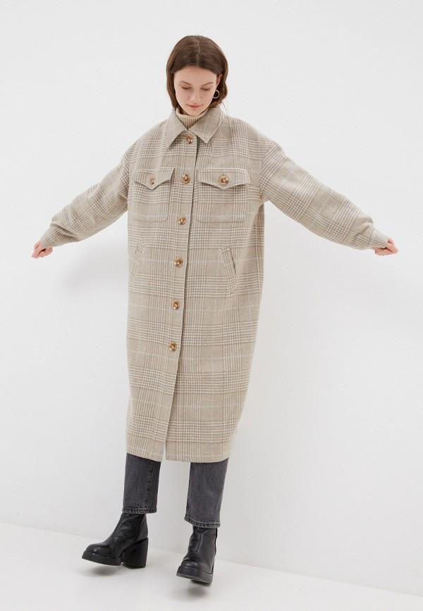 женское пальто nataliy beate, бежевое