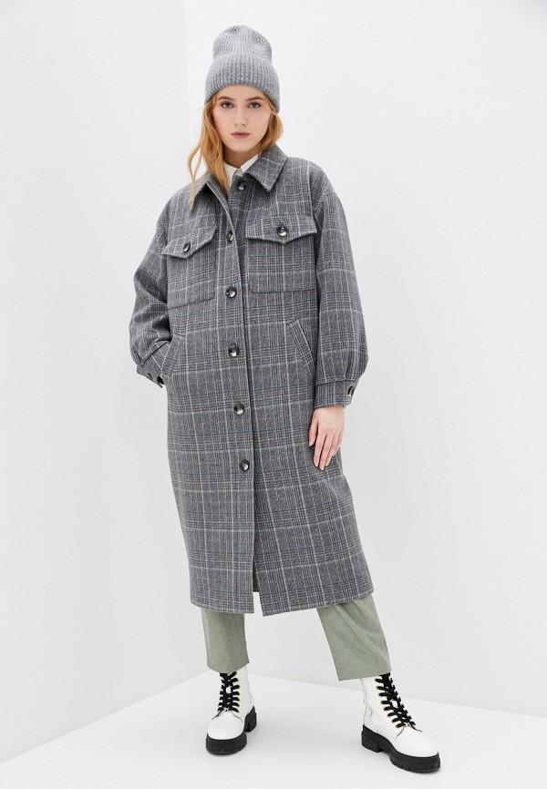 женское пальто nataliy beate, серое