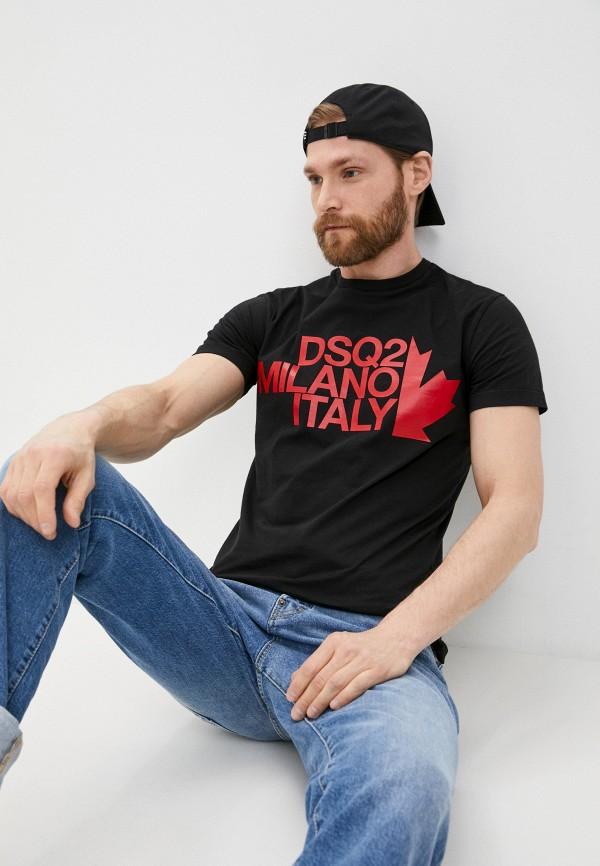 мужская футболка dsquared2, черная