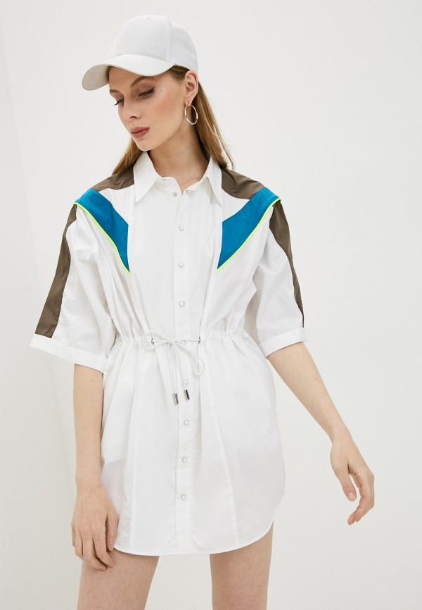 женское платье dsquared2, белое