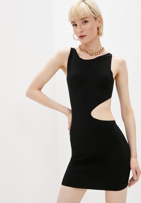 женское вечерние платье dsquared2, черное