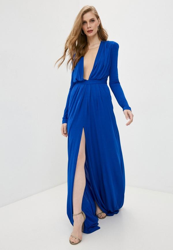 женское вечерние платье dsquared2, синее