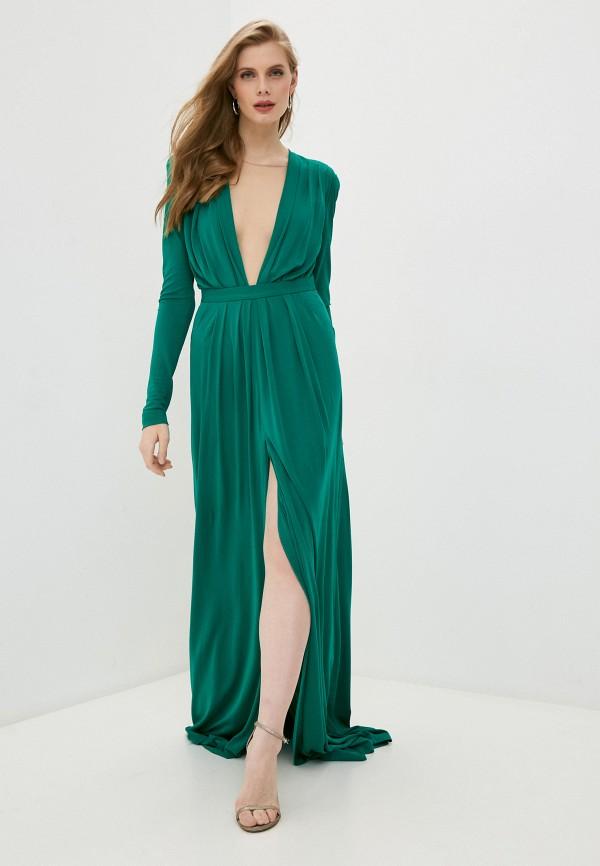 женское вечерние платье dsquared2, зеленое