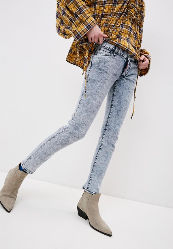 женские джинсы dsquared2, голубые