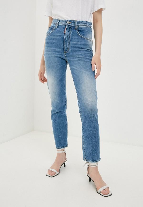 женские прямые джинсы dsquared2, голубые