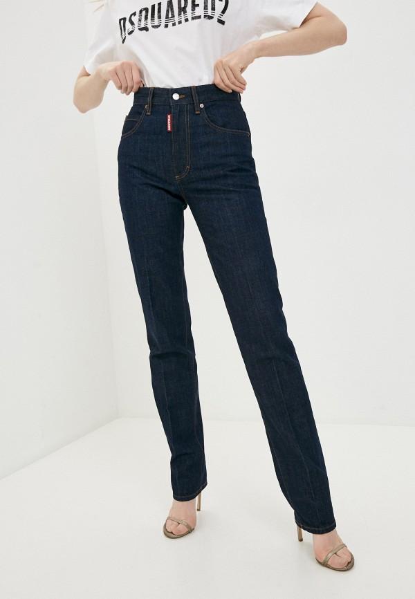 женские прямые джинсы dsquared2, синие