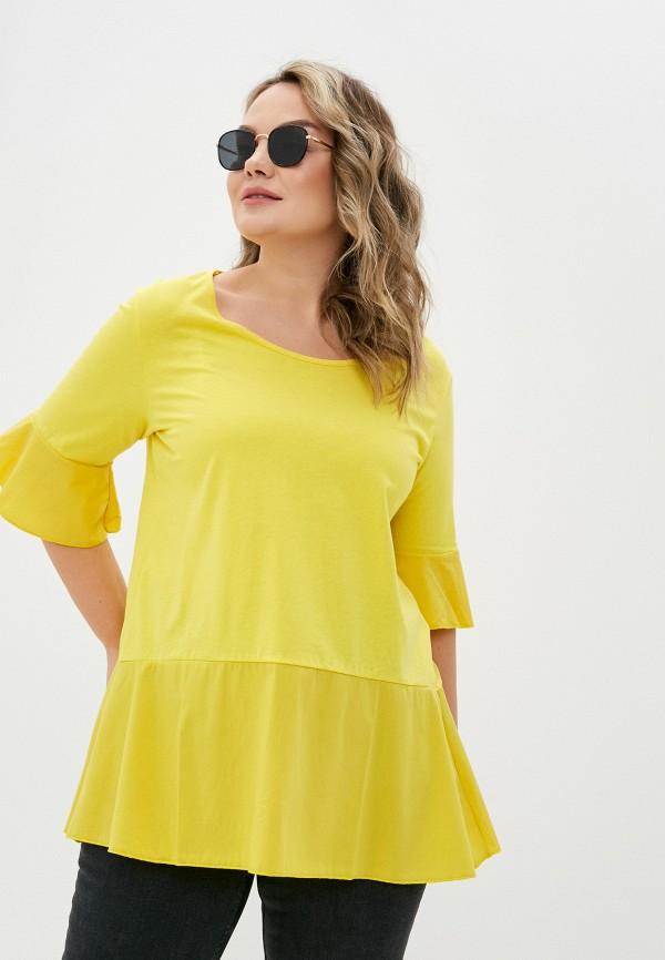 женская блузка sophia, желтая