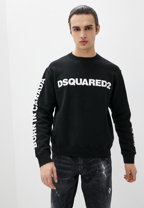 мужской свитшот dsquared2, черный