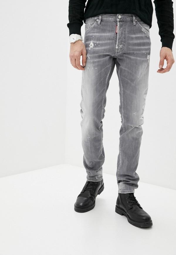 мужские зауженные джинсы dsquared2, серые