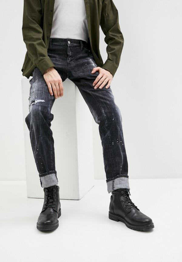 мужские прямые джинсы dsquared2, черные