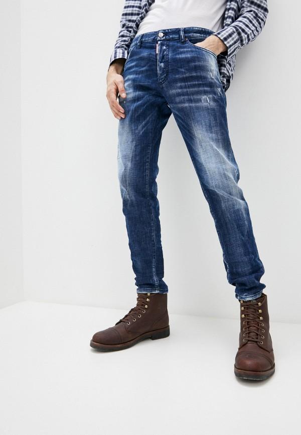 мужские зауженные джинсы dsquared2, синие